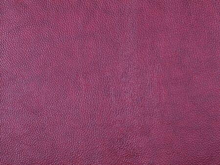 Genuine violet leather texture background. Macro photo