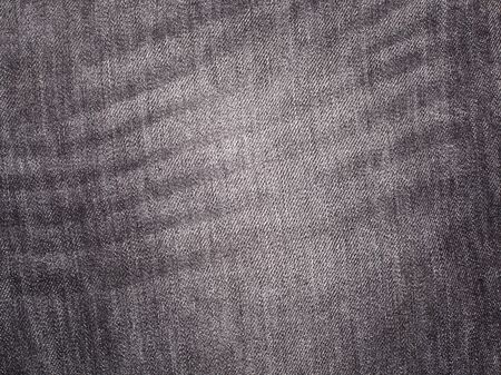 Texture of grey jeans background. Macro photo Zdjęcie Seryjne