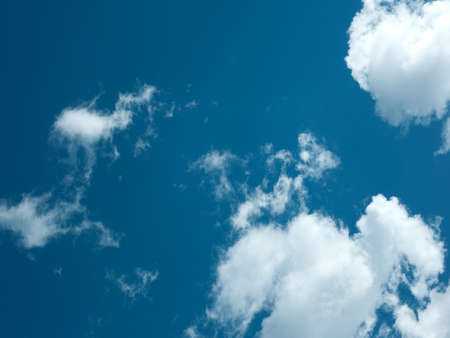 Beautiful blue sky with clouds on sunny day