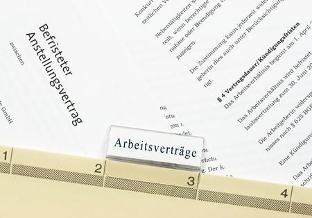 Befristeter Arbeitsvertrag Standard-Bild - 14484018