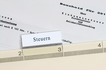 Steuerbescheide - Archiv Stock Photo - 14484031