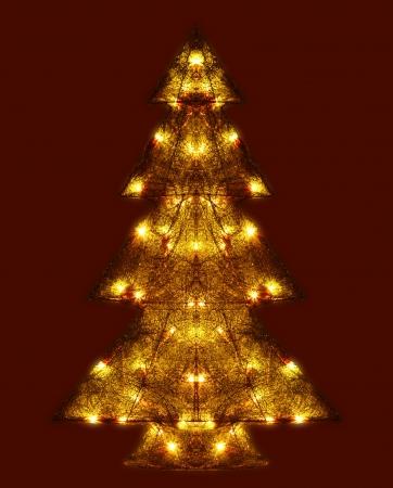 Leuchtender Weihnachtsbaum Standard-Bild - 14604162