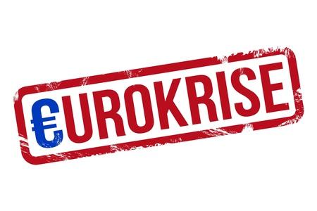 Eurokrise - Stempel Standard-Bild - 15216013