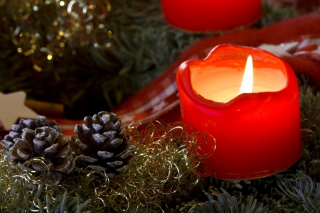 Advent Candle Light Standard-Bild - 17076397