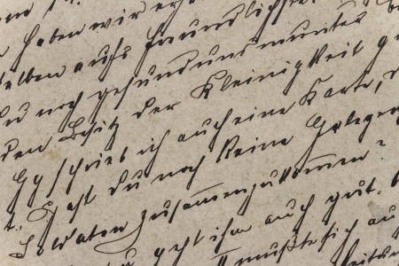 Weinlese-Handschrift Standard-Bild - 23520818