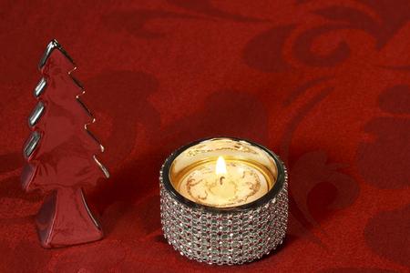 Weihnachten Tischdekoration mit Silber und Kristall- Standard-Bild - 45259609