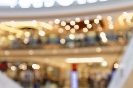 Weihnachtslichter im Einkaufszentrum - Detail unscharfer Hintergrund Standard-Bild - 92533400