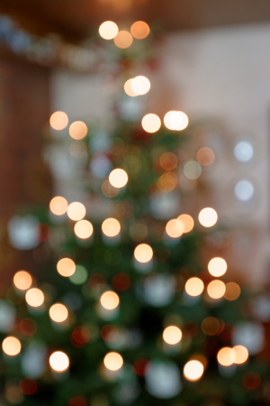 Blurred Background Concept Abstract Christmas Tree II Standard-Bild