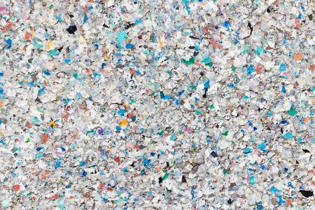 Texture des granulés de plastique recyclé