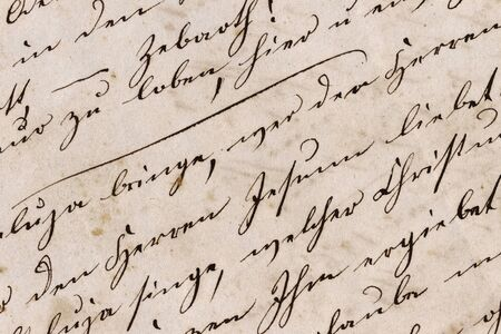 Historic Handwriting Closeup - Germany, Mid-19th Century Standard-Bild