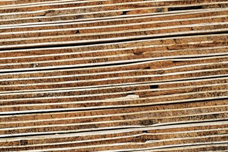 Plywood Layer: Cross Section Seven-Ply Piled Plywood Boards - Macro