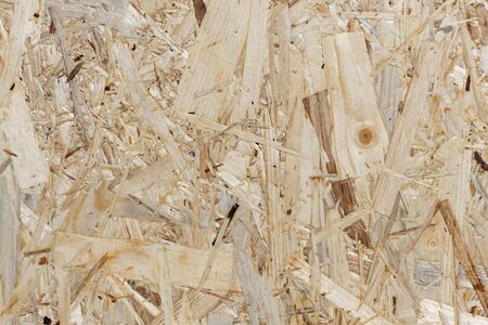 Waste Wood Recycling Background of an Oriented Strand Board