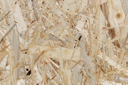 Construction Timber: Texture of an Oriented Strand Board Standard-Bild