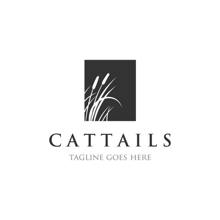 cattails  reed logo designs inspirations