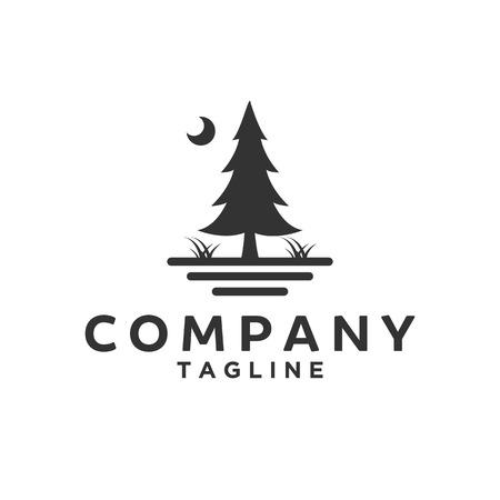 fir / Cedar / Spruce / Evergreen / Pine tree Logo design inspiration Vettoriali