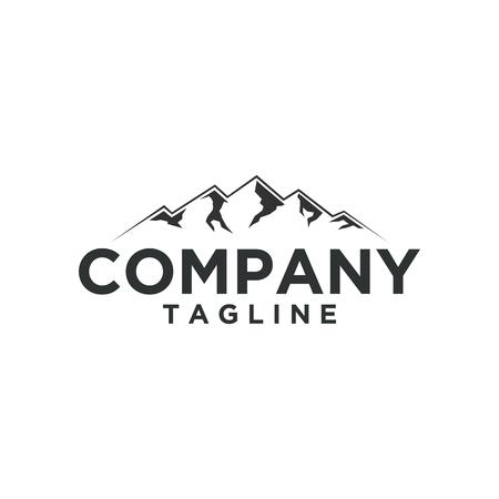 Mountain Logo. Flat design logo template. Vector Illustrator Logo