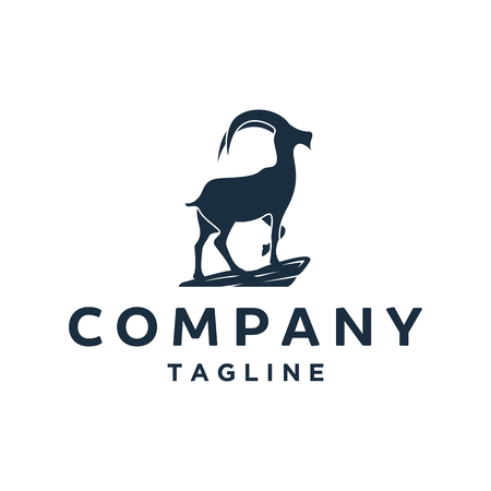 Goat Simple Logo Template Design