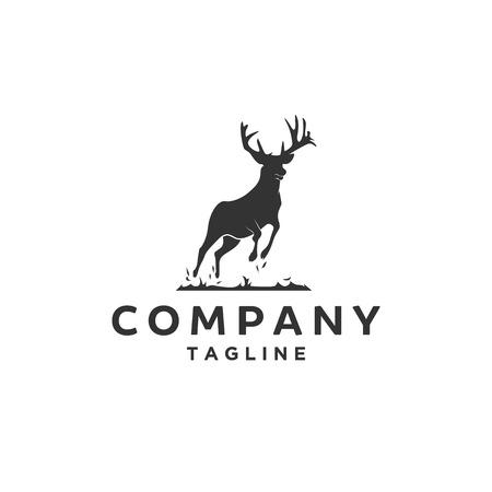 Logo de cerf antilope sautant Logo