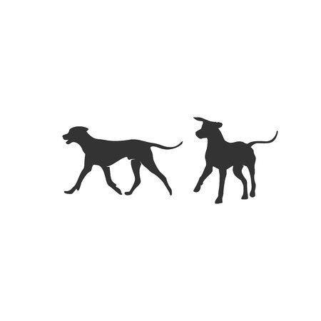 dogs silhouette illustrations designs