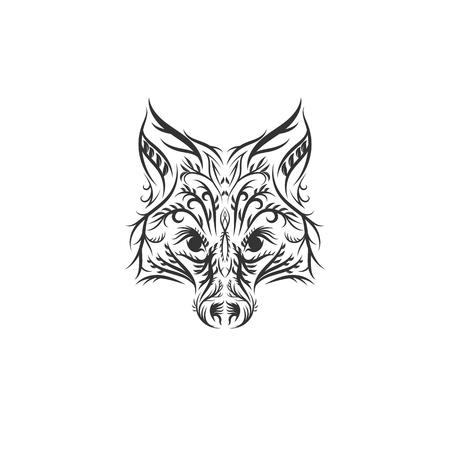 disegni di illustrazione di volpe carina disegnata a mano