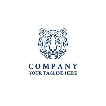 tiger head face logo vector icon template