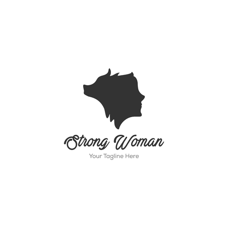 woman and wolf logo silhouette , simply logo designs