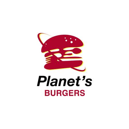 Café de hamburgers. Logo Burger, emblème, étiquette avec logo créatif cuillère et fourchette