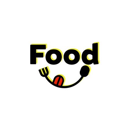 icône de smiley avec la langue rouge. concept de sourire, journée mondiale du sourire, langue, bonne bouffe, profiter de la nourriture, gourmet, saveur, emoji de réseau social, taquiner. illustration vectorielle de style plat sourire tendance logo design Logo