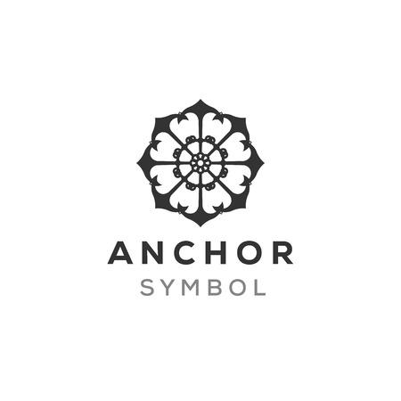 mandala anchor logo design inspiration, mature logo concept