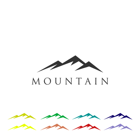 Mountain Logo Icon Vector Template 矢量图像