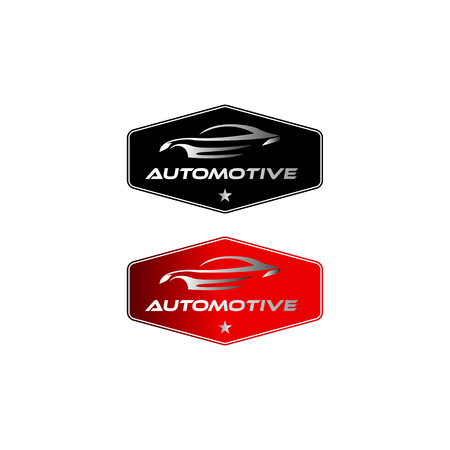 vintage / classic automotive logo designs with the badge  イラスト・ベクター素材
