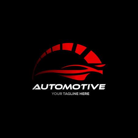 Logo dell'auto nel vettore del modello di progettazione grafica di linea semplice