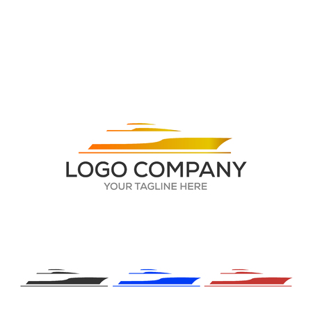 Yacht logo. Simple illustration of yacht vector icon for web Logo