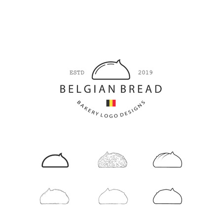 Set of Vector Bakery Pastry Elements and Bread Icons Illustration can be used as Logo or Icon in premium quality Ilustrace
