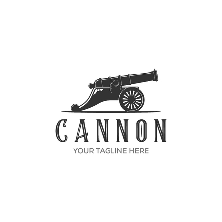Cannon icon vector isolated on white background for your web and mobile app design, Cannon logo concept Ilustrace