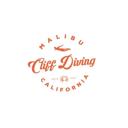 cliff diving logo inspirations , t shirt, restaurant,
