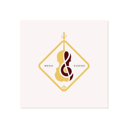 Violin  Cello logo design inspiration , classic and luxury logo designs Çizim
