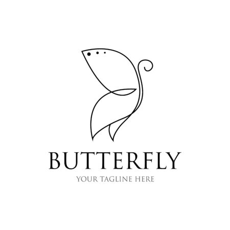 Butterfly line drawing. butterfly icon. vector of butterfly shape lines
