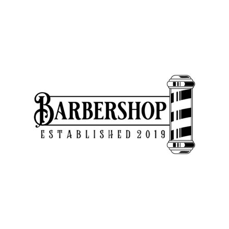 Vector Barber shop vintage logo isolated on a white background