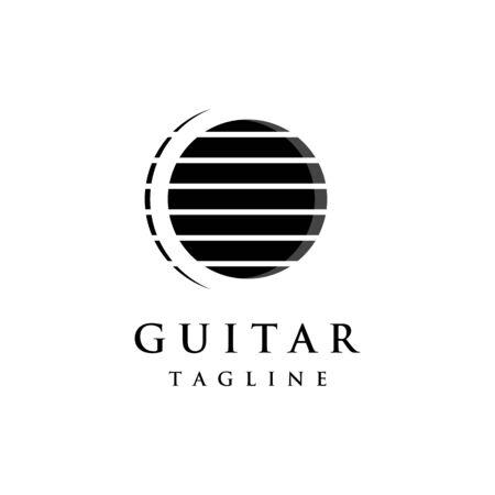 Luxury abstract logo symbol for guitar classic Ilustração