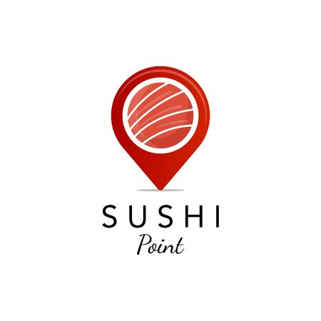 sushi point logo designs, for food company