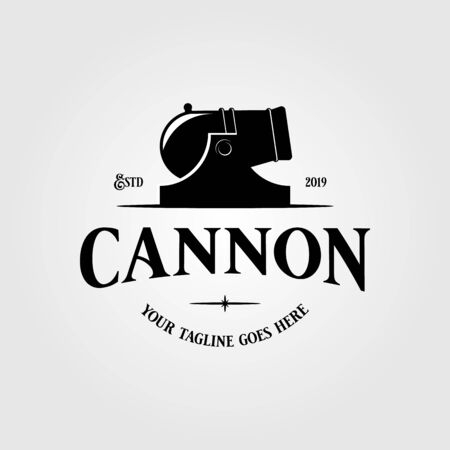 Cannon icon vector isolated on white background for your web and mobile app design, Cannon logo concept