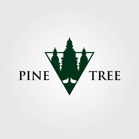 triangle pine tree or fir logo , evergreen vector
