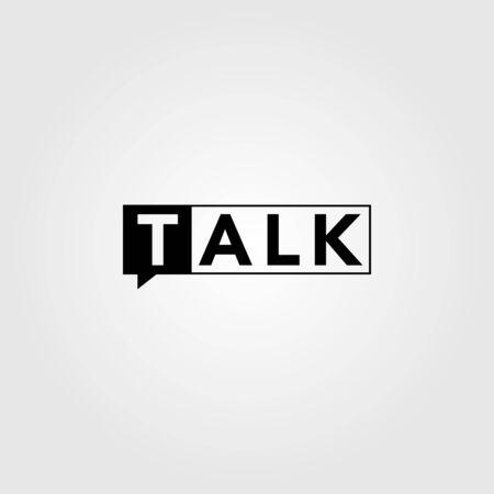 talk logo icon negative space symbol design illustration