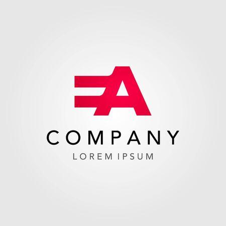 letter E A initial logo in negative space vector design icon illustration Logo