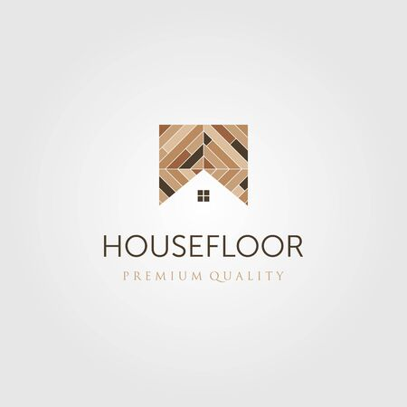 house floor wood parquet flooring vinyl emblem logo vector design