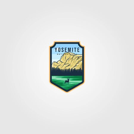 yosemite national park logo outdoor vector illustration design Ilustrace