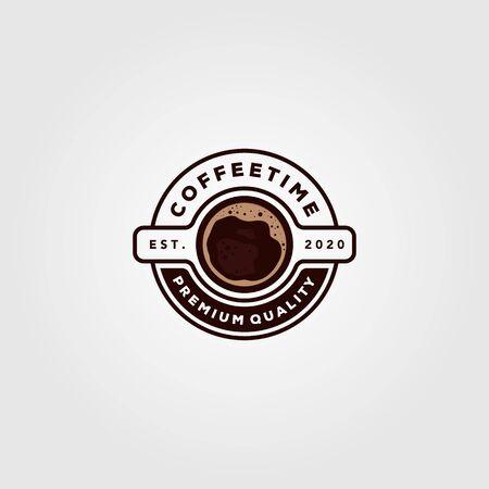 coffee cup logo vector cafe shop illustration design Çizim