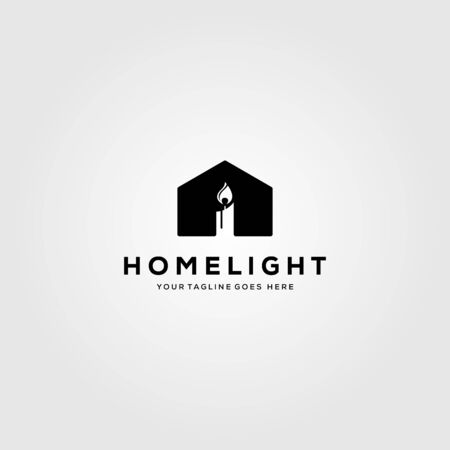 house of candle logo vector illustration design