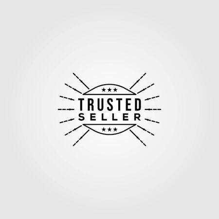 trusted seller logo sunburst vector minimalist illustration design